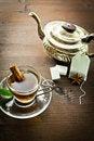Free Hot Tea And Old Tea Pot Stock Image - 22669581