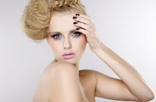 Free Young Pretty Woman With Beautiful Blond Hairs Royalty Free Stock Photo - 22662305