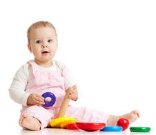 Free Baby Playing With Color Toy Stock Photos - 22665833
