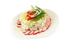 Dish With A Salad Of Radish Royalty Free Stock Photos