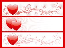 Set Of Valentins Day Banners Royalty Free Stock Image
