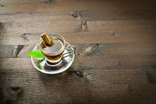 Free Hot Tea And Cinnamon In The Cup Stock Images - 22669814
