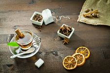 Tea And Aromatic Spices Royalty Free Stock Images