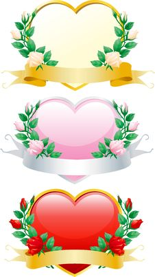 Free Set Of Valentines Hearts Stock Photo - 22670090