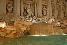 Free Trevi Fountain In Rome Royalty Free Stock Image - 22670966
