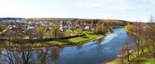 Free Panorama The River Ruza Royalty Free Stock Images - 22671429