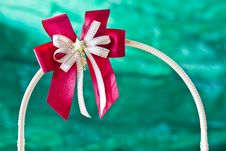 Free Red Gift Ribbon On Arc Stock Image - 22673361