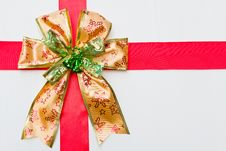 Gold Gift Ribbon Stock Images
