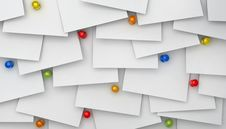 Free Notes Paper With Red Push Pins Royalty Free Stock Image - 22675816