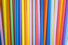 Free Colorful Straws Background Royalty Free Stock Image - 22678096