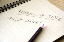 Free Working Time Notice Stock Images - 22678324
