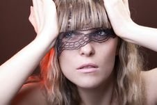 Free Face With Lace Stock Photography - 22678792
