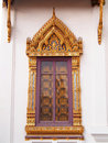 Free Traditional Thai Style Window Temple Royalty Free Stock Photo - 22683455
