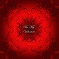 Free Valentine Card Red Flourish Background Stock Photos - 22683973