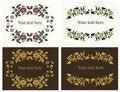 Free Flower Decorative Frames Set Royalty Free Stock Image - 22689716