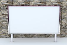 Free 3D Blank Big Box With Stone Background. Royalty Free Stock Image - 22680006