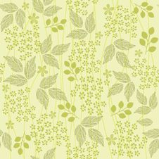 Free Seamless Floral Background In Vector Royalty Free Stock Photos - 22680578