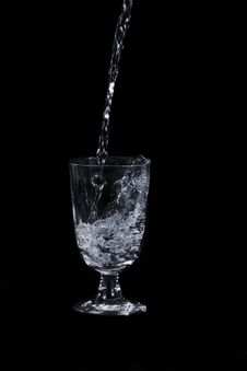 Free Pouring Water Into A Glass. Stock Images - 22681454