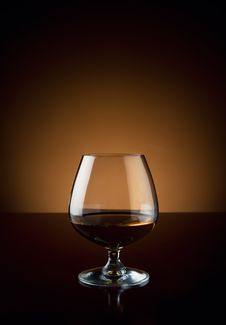 Free Glass Of Cognac With Copy Space Stock Images - 22682074