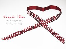 Red Ribbon With Heart Shape Royalty Free Stock Photos