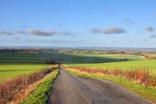 A Rural Landscape In The Chiltern Hills Royalty Free Stock Photography