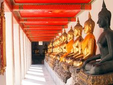 Free Buddha In Corridor Of Light Stock Image - 22683691