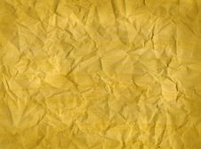Free Crumpled Yellow Paper Texture Royalty Free Stock Photo - 22683775