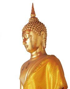 Free Golden Buddha Isolated On White Stock Photo - 22683870
