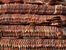 Free Red Clay Tiles Of Thai Roof Stock Images - 22683894