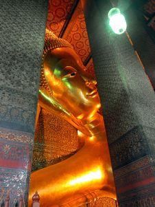 Free Reclining Buddha, Wat Pho, Bangkok, Thailand Stock Photography - 22683942