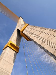 Mega Sling Bridge,Rama 8, In Bangkok Stock Photo
