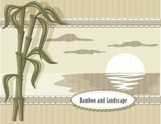 Free Bamboo And Landscape Stock Photography - 22686802