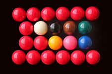 Free Snooker Balls Of Many Colors Stock Photos - 22687003
