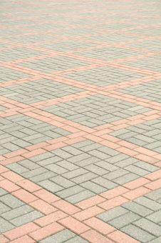 Free Tiled Pavement Royalty Free Stock Photography - 22687937