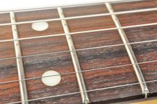 Free Electric Guitar Fingerboard With Strings Royalty Free Stock Images - 22687979