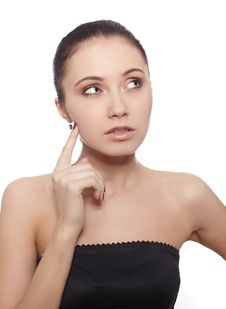 Urprised Young Woman With Hands Over Her Mouth Stock Photography
