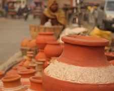 Free Closeup Of Indian Pottery Earthenware Royalty Free Stock Photo - 22691895