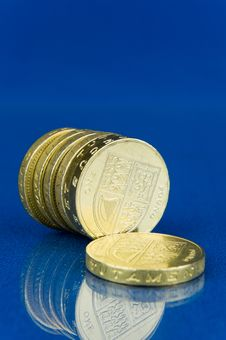 Free Row Of Pound Coins Stock Image - 22693001