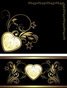 Free Ornamental Elements With Heart For Decor Royalty Free Stock Photo - 22693145