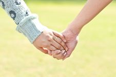 Hand Holding Hand, Lesbien Concept Stock Photos