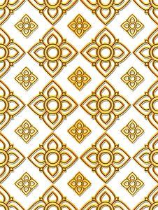 Free Thai Art Pattern Royalty Free Stock Image - 22695026