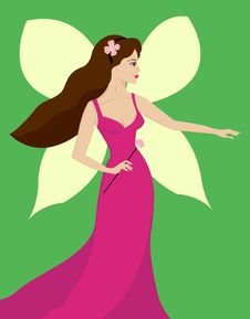 Free Beautiful Woman Fairy With Wings In Fashion Dress Stock Image - 22695671