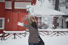 Free Girl Who Throw Snow In The Air Stock Photos - 22696043