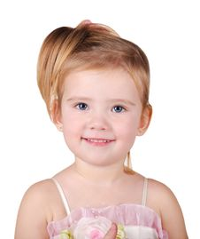 Free Portrait Of Beautiful Little Girl Royalty Free Stock Images - 22696159