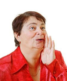 Portrait Of A Senior Woman. Stock Image