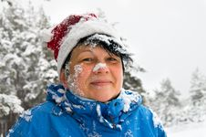 Free Woman Sprinkled By A Snow Royalty Free Stock Photography - 22697227