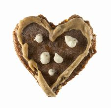 Free Heart Shape Spice Cake Stock Image - 22697291