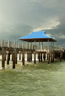 Free Pier On Piles Stock Photography - 22697972