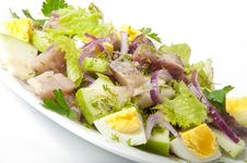 Herring Salad, Apples And Eggs Royalty Free Stock Photo