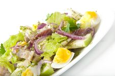 Herring Salad, Apples And Eggs Stock Photo